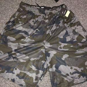 NWT men's Nike Dri-fit camo shorts XXL black gray